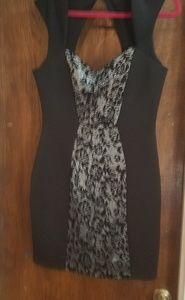 Guess Black and Silver fitted dress